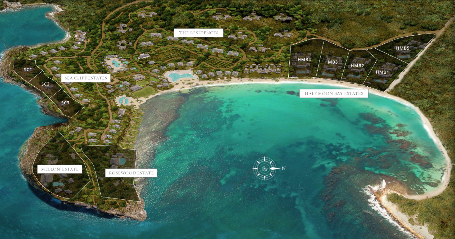 The Strand Turks and Caicos - Resort map